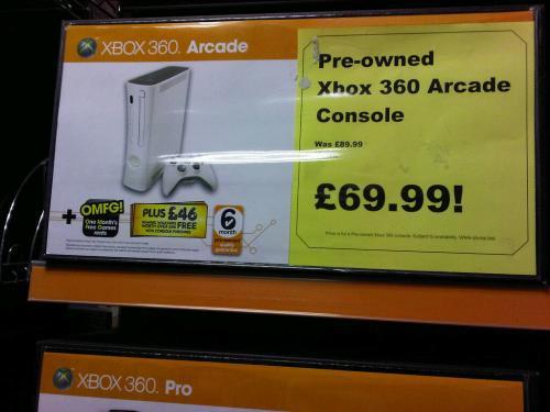 Microsoft Xbox 360 Arcade (Pre-owned) - £69.99 @ Blockbuster