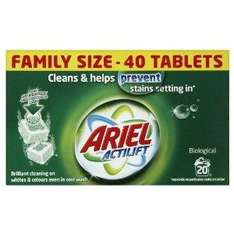 Ariel Biological Laundry Detergent with Actilift technology - 40 Tablets (Pack of 4) £10.26 Delivered @ Amazon