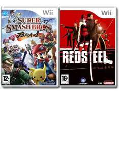 Super Smash Bros Brawl + Red Steel (Wii) (Pre-owned) - £15 @ Game