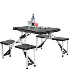 Folding Camping Table and 4 Stools with Carry Bag - £19.99 @ Argos