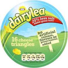 Dairylea Triangles (16 per pack - 280g) & Dairylea Cheese Spread (300g) Both £1.89 BOGOF at Tesco