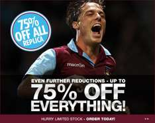 75% off Everything @ West Ham United Megastore