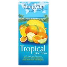 Sunpride 1litre Tropical Fruit Juice Drink only 39p @ Home Bargains