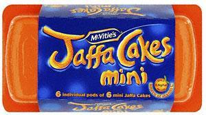 McVitie's Penguin-Mint / Orange / Original (9 per pack), McVitie's Mini HobNobs Chocolate, Choc Chip etc (6 x 25g), McVitie's Jaffa Cakes (12 pack), McVitie's Jaffa Cakes Mini (115g)& McVitie's Jaffa Cakes Mini Pods (6 per pack)-More in Post £1-Tesco