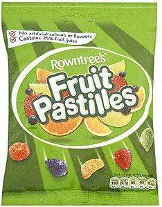 Big Bags of Sweets £1 @ Tesco - List in Post eg. Rowntree's Fruit Pastilles (205g), Rowntree's Fruit Gums (205g)