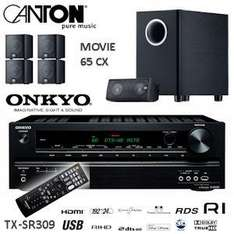 Onkyo 5.1-Channel 3D Receiver with Canton 5.1 Speakerset and Active Subwoofer - £339.90 Delivered @ iBOOD
