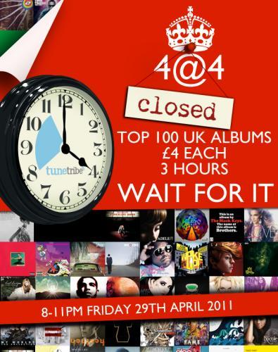 Top 100 Album Downloads - 8pm-11pm Tonight - £4 Each Album @ Tunetribe