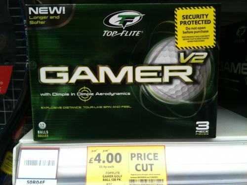 Top Flite Gamer V2 12 Pack Golf Balls - was £16.50 now £4.00 @ Tesco (Instore)
