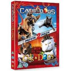 Cats and Dogs 1 & 2 (DVD) - £4.99 @ Amazon & Play