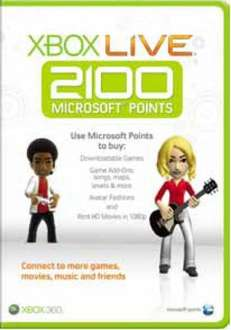 Xbox Live 2100 Points Card - £14.85 (with code) @ The Hut