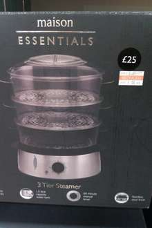 maison Essentials Large Stainless Steel 3-Tier Steamer, £10 @Bhs