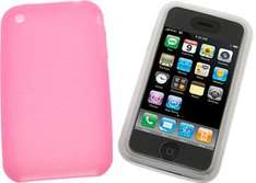 Apple iPhone 3G/3GS Silicone Case/Skin - Buy 1 Pink & Get 1 Clear Free - 49p Delivered @ 7 Day Shop