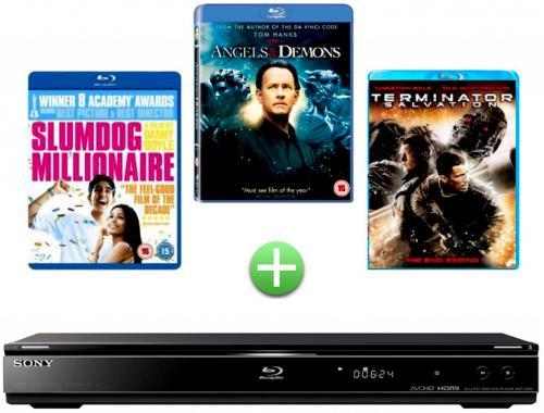 Sony Blu-ray Player + 3 Discs BDPS360DIS3VIY - £48 Including Vat @ Makro