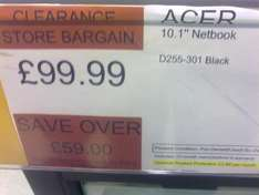 Acer 10.1 Netbook (Refurb?) - £99.99  @ Electrical Clearance Store