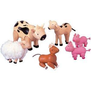 Plan Toys Wooden Animal Farm Set - £6.58 @ Amazon