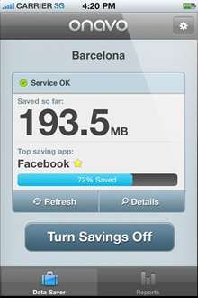 Free Onavo iPhone App (This App will Save you Money by Doubling or even Trebling your iPhone Data Plan) (Not Supported by The 02 Network)