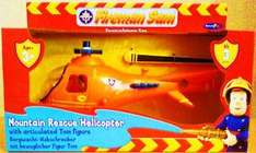 Fireman Sam Talking Mountain Rescue Helicopter With Sam Figure, Phrases, Sounds, Winch & Hook - Only £7.99 @ B&M