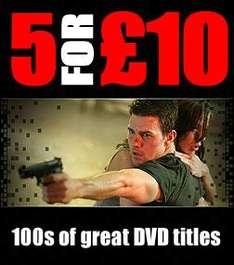 5 DVDs for £10 @ Base (+ 4% Quidco)
