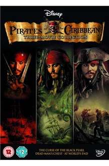 Pirates Of The Caribbean Trilogy: Curse Of The Black Pearl / Dead Man's Chest / At World's End (DVD) - £8.99 @ HMV (+ 5% Quidco)