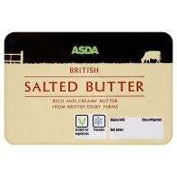 ASDA Pure creamery butter (250g) salted/unsalted rollback to 50p