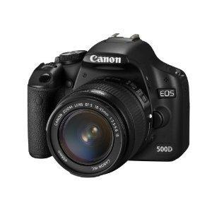 Canon EOS 500D Digital SLR Camera (incl. EF-S 18-55 mm IS Lens Kit) £522.49 @ Amazon
