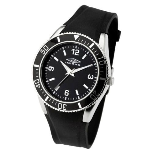 Umbro Gents U677B Analogue Watch with Black Rubber Strap - £8 @ Amazon