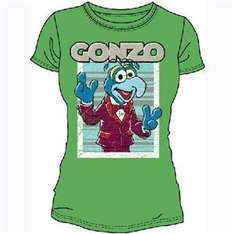 The Muppets Women's Gonzo (Green - T-Shirt) - now £5.00 delivered @ Play.com