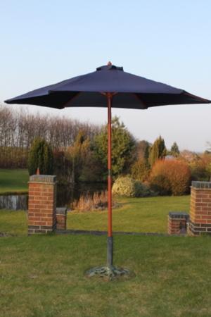 2.5 Metre Wooden Parasol (Black) (Green) (Yellow) - £14.99 @ B&M