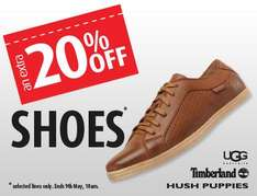 Extra 20% off Shoes @ MandM Direct