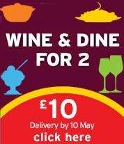 Wine and dine for 2 for £10 (includes £9.99 wine!) @ Sainsbury's