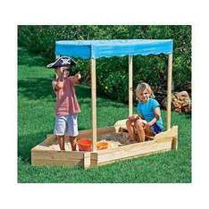Wooden Sand Box Row Boat New - £21.99 + £2.99 Express Delivery @ eBay Argos Outlet