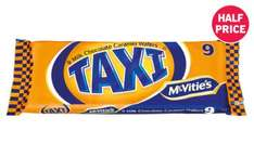 McVitie's Taxi Milk Chocolate Caramel Wafers - 9 Pack 79p at Lidl