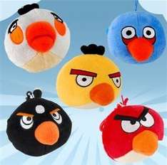 5x 10cm Angry Birds Soft Toy Set - £6.41 @ Focal Price