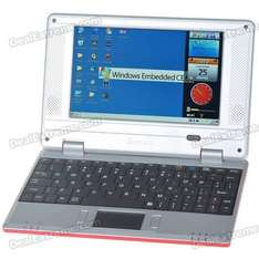 "7"" TFT LCD Windows CE 6.0 VIA8505 CPU WiFi UMPC Netbook - Red - £52.81 @ Deal Extreme"