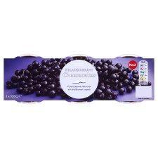 """NEW"" - Tesco Blackcurrant or Lemon Cheesecake (3x100g) - 2 for 1, £1.40 per pack of 3 --"