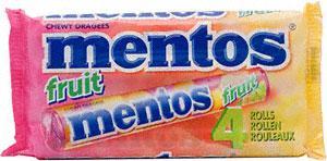 Mentos 4 packs Mint/Fruit 50p @ Sainsbury's