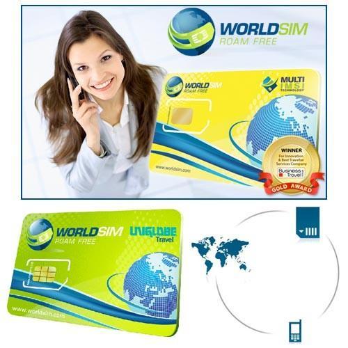 WorldSIM™ Multi IMSI Sim Card + £10 credit  Now £13.37 Delivered @ Dealtastic