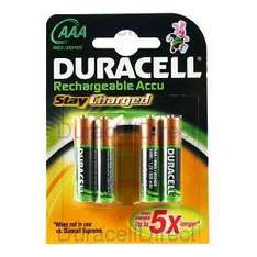 Duracell AAA/800Mah Rechargable Accu Stay Charged 4 Pack £2.50 Asda Instore