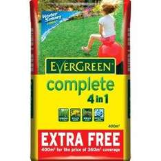 Evergreen Complete 4-in-1 Lawn Feed - 400sq m. @ £20 B&Q