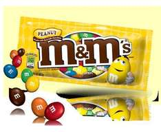 100G bags of Peanut M&Ms Was £1.20, now 34p Scanning at 10p @ Sainsburys !