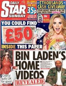 Sunday newspaper offers - see post - Star/ Mirror/ Telegraph/ NOTW