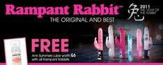 Get a free bottle of £6 strawberry lube with every Rampant Rabbit! @ Ann Summers