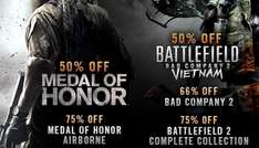 Day 7 Deals Battlefield and Medal of Honor Series (PC) Up to 75% off @ Steam