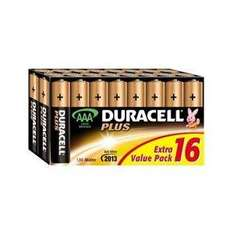 Duracell Plus AAA 8 + 8 Free - £4.89 @ Amazon marketplace (Media-R-Us. )