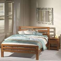 Ruskin wooden double bed frame @ Sleepmaster £199.95 plus delivery