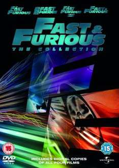 Fast and Furious 1-4 (Includes Digital Copies) (DVD) - £9.85 Delivered @ Zavvi
