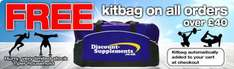 Spend £40 and get a free kit bag @ discount  supplements
