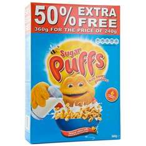 240G + 50% Extra Free Honey Monster Sugar Puffs £1 @ poundland