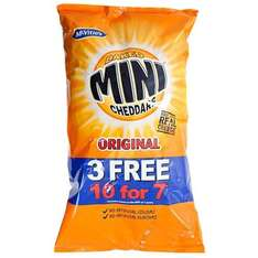 Mini Cheddars Original - 7 + 3 Free. 10 packets for £1 @ poundland