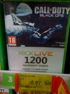 Xbox Live 1200 Points Card - £8.97 @ Asda (Instore)